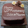 Personalised 40th Anniversary Cake